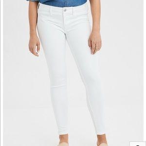 White Stretchy Skinny Jeans